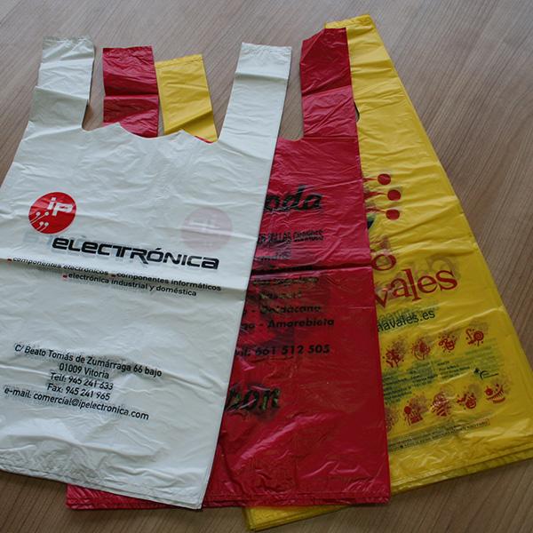 bolsas de plastico camiseta impresas